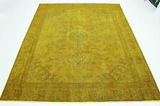 Top Orientteppich Vintage modern gold Used Look 370x290 handgeknüpft edel 167004