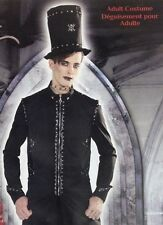 Steampunk Goth Costume Metal Studded Top Hat & Coat Adult X-Large (44-46) Punk