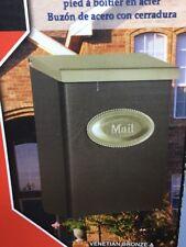 Designer Vertical Wall Mount Steel Locking Large Mailbox Bronze Mail Post Box