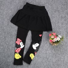 INFANTIL NIÑA MINNIE MOUSE Minifalda Pantalones Falda pantalón