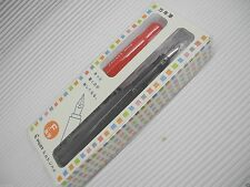 Red PILOT kakuno Fountain Pen Fine nib with cap 1 cartridges Black w/case