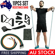 New listing 11Pcs Resistance Band Heavy Duty Power Gym Exercise Yoga Training Fitness OZ