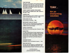 Tyler Texas Vintage Travel Brochure Color Photos Points of Interest