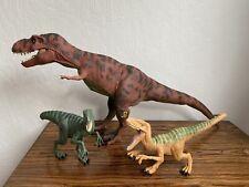 1993 Jurassic Park Red T-Rex Tyrannosaurus Rex Vintage Kenner JP.09 + 2 Extras