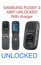 Samsung Rugby III SGH A997 Unlocked  AT&T 3G 3MP gray 10/10 Cond.Flip Phone 🇺🇸