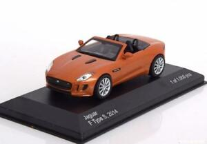 JAGUAR F TYPE S 2014 ORANGE METAL ROADSTER WHITEBOX WB166 1/43 CABRIOLET