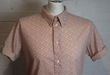 PAUL SMITH Mens RED EAR SHIRT Short Roll Sleeves - Size Large L - TAKE A LOOK!!!