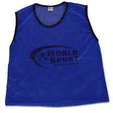 set 12 PRO QUALITY scrimmage vests pinnies bibs ADULT blue Soccer   training