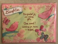 Papyrus - Mother's Day greeting card Mom Flowers Daughter - New in Packaging