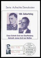 BRD MK 2007 STAUFFENBERG MOLTKE PRIVATE !! MAXIMUMKARTE MAXIMUM CARD MC CM by64