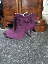 Duo suede purple ankle boots size 40 new