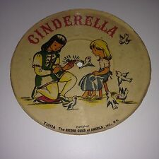 CInderella Ugly Duckling Record Guild of America Vintage Picture Disc 45