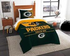 Green Bay Packers - 2 Pc TWIN Size Printed Comforter/Sham Set