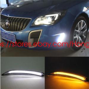 DRL For Buick Regal GS 2010 2011 2012 2013 LED Daytime Running Light Lamp Turn