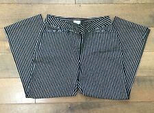 "LOFT ""Laura"" Striped Capri Jeans Cropped Stretch Black & White Denim Women's 6"