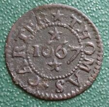 More details for 17th century essex farthing token colchester thomas carter 1667