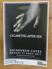 Cigarettes After Sex - Edinburgh april 2017 tour concert gig poster