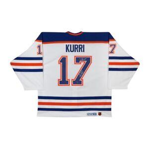 Jari Kurri Signed Autographed Authentic Jersey Stat Inscribed Oilers #/17 UDA