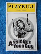 Annie Get Your Gun - Marquis Playbill - September 1999 - Bernadette Peters