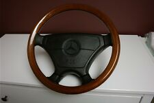 Wooden steering wheel Mercedes E500 (W124, W201, W202) AMG, BRABUS, LORINSER