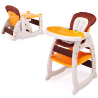 3 in 1 Baby High Chair Infant Toddler Feeding Booster Seat Folding Safety Yellow