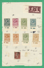 Stamps - 10 Various World Stamps On Paper - Great Britain Various
