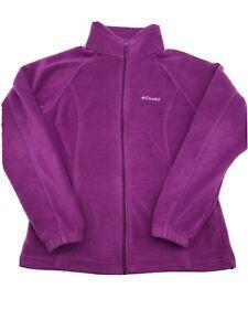 Columbia Size Medium Purple Full Zip Fleece Jacket