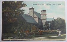 1910 POSTCARD HOLLYHOCKS HOYT LIBRARY SAGINAW MICHIGAN UNPOSTED