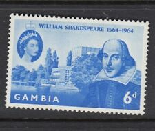 Gambia 6d William Shakespeare SG210 Stamp1964 MNH