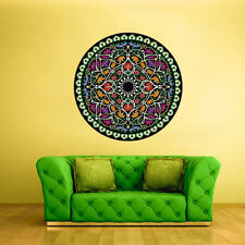Color Wall Decal Vinyl Sticker Art Decor Flowers Mandala Mehndi Curly (Col14)