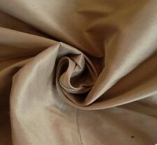 5 metres Beautiful Faux Silk  Taffeta Curtain Fabric In Latte
