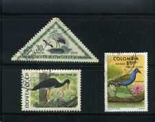 BIRDS OF HUNGARY,- RUSSIA,- COLOMBIA {3}  60s