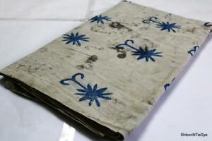 Batik Handmade Block Print 100%Cotton Natural Colour Woman Garments Cloth Fabric
