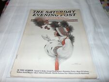 Saturday Evening Post Magazine December 18th 1915 ILLUSTRATED COVER Advertising