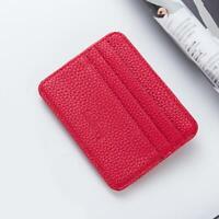 Mens Slim Minimalist Front Pocket Wallet Genuine Leather Credit Card ID Hol L8R7