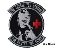 Toysoldier The Louder you Scream Army Medic EMS Iron/sew-on Embroidered Patch