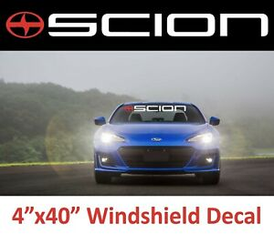 "SCION Windshield Logo Banner Decal 40"" Sticker, racing xb tc iq xD Sport, Turbo"