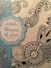 3 Conos de Henna Mehndi temporal de Flash Grande Encaje Flores Negro Tobillera Pulsera de tatuajes