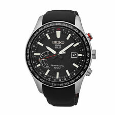 Seiko Sportura GPS Solar Mens Watch. Sapphire Glass & World Time. SSF007J
