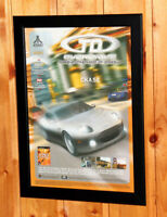 2002 TD Overdrive The Brotherhood of Speed Small Poster / Ad Page Framed PS2