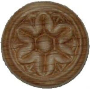 "OAK Embossed Wood Ornament 1"" Rosette   W35790"