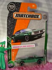 2018 MATCHBOX #19 '70 PLYMOUTH CUDA hemi☆green☆MBX ROAD TRIP☆65TH