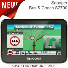 "Snooper Bus-Coach S2700 EU│4.3"" GPS SatNav│Free Lifetime UK Europe Map Updates"