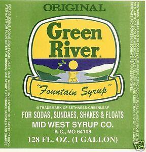 GREEN RIVER  *  Soda Fountain Syrup - 1  gallon
