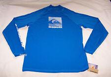 Quiksilver Mens Blue Strobe Long Sleeve Printed Rash Vest Size M New