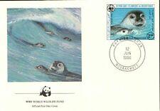 (70314) FDC  - Mauritania -Seals - 1986