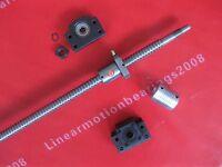 1 antibacklash ballscrew ball screw 1605-700mm-C7+BK12 BF12 +1 coupling  for CNC
