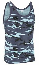 NEW US COMBAT MIDNIGHT CAMO ARMY SINGLETS SLEEVELESS VESTS TANK TOP FANCY DRESS