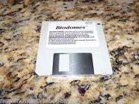 Biodomes Bio Domes (PC, 1993) Game MS-Dos 3.5 Inch Floppy Disc (Near Mint)