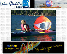 "Kayak Sails ""Scout Wind Paddle"" -     Instant Sail Kit   -    Easy Kayak Sailing"